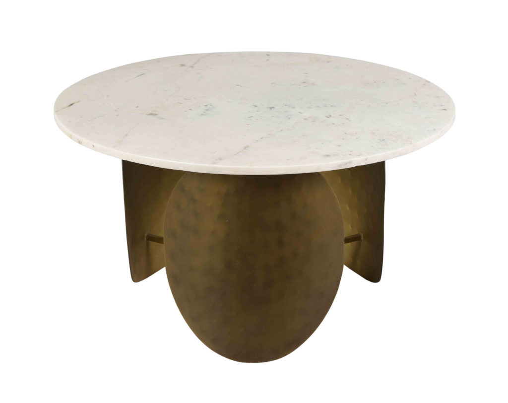 Elise White Marble Cocktail Table