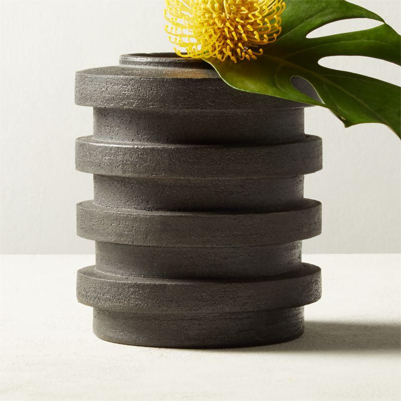 Dante Black Vase