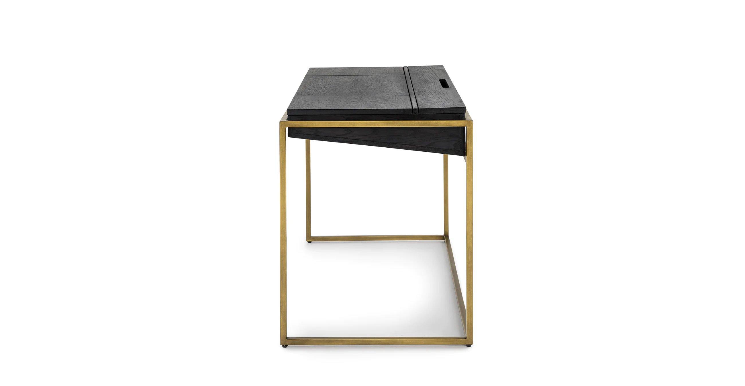 Oscuro Black Desk