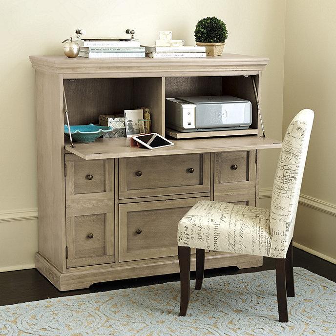 Ballard Designs Eastman Secretary Desk - Large - Rubbed Cream