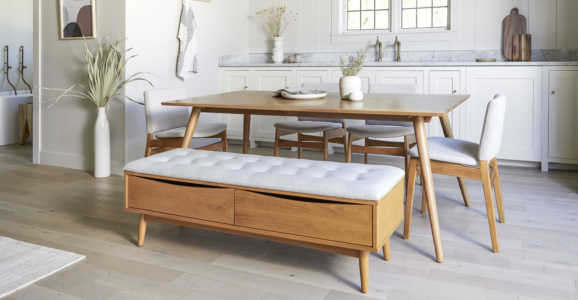 Seno Oak Dining Table For 6