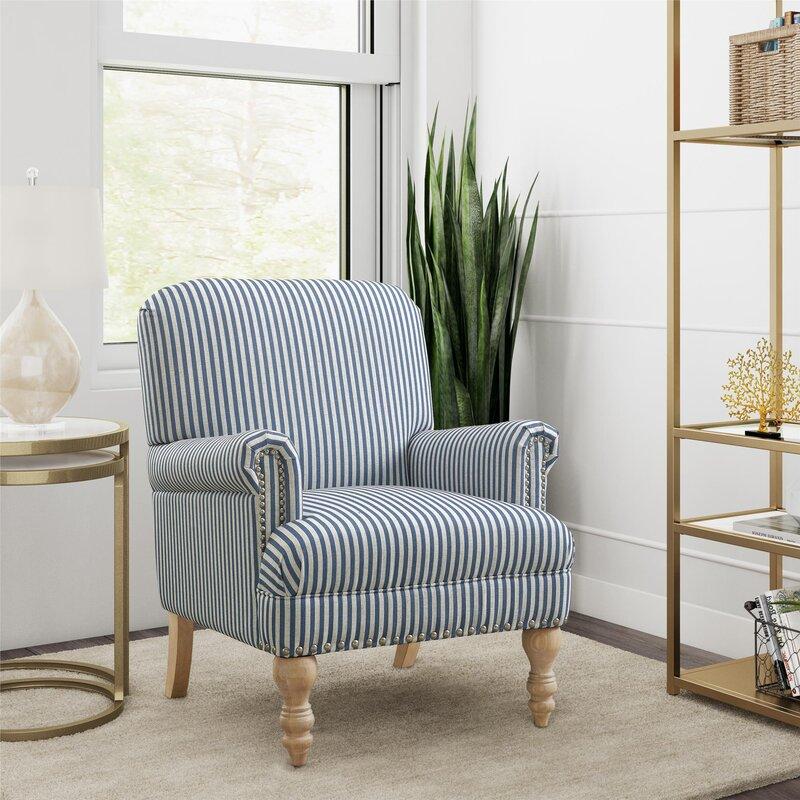 """Deston 29.13"""" Wide Polyester Armchair"""