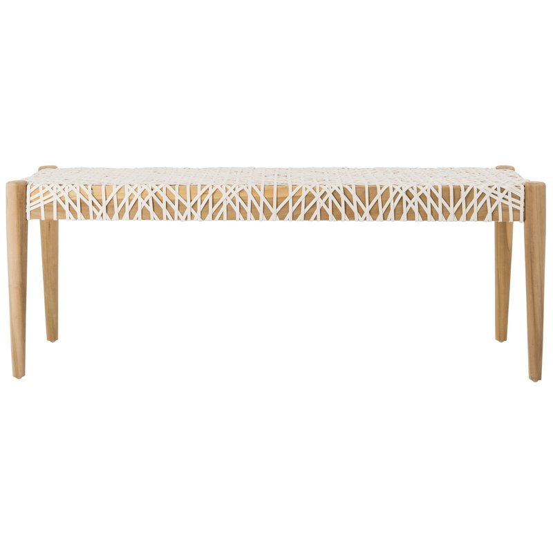 Mistana Bandelier Solid Wood Bench