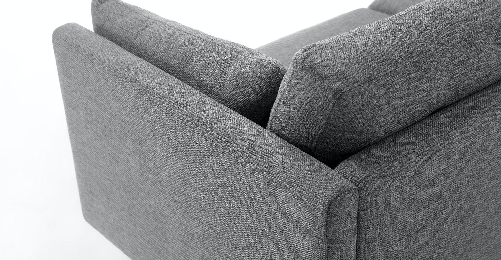 "Anton Gravel Gray 74"" Sofa"