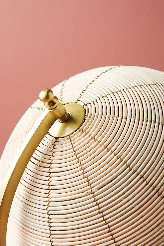 Rattan Globe Decorative Object - Small