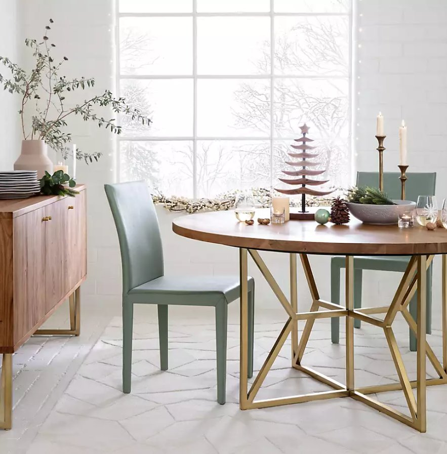 """Hayes 48"""" Round Acacia Dining Table"""