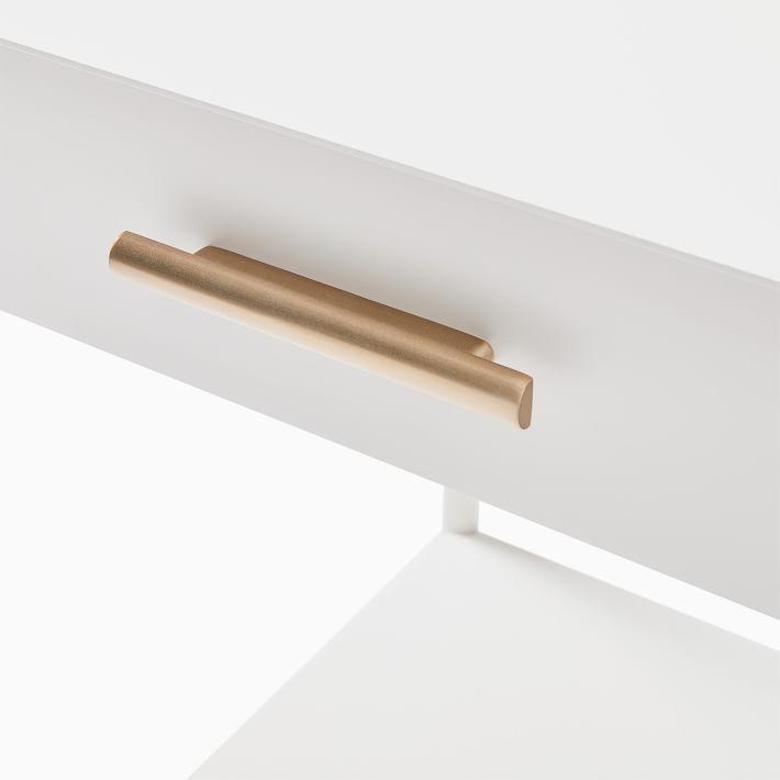 Metalwork Nightstand - White-individual