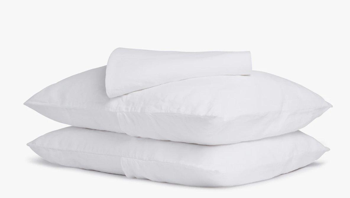 Linen Sheet Set-White-Queen