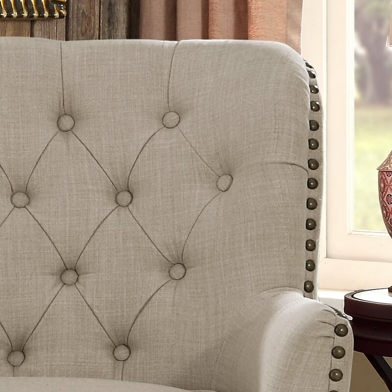 """Ivo 30"""" Wide Tufted Wingback Chair"""