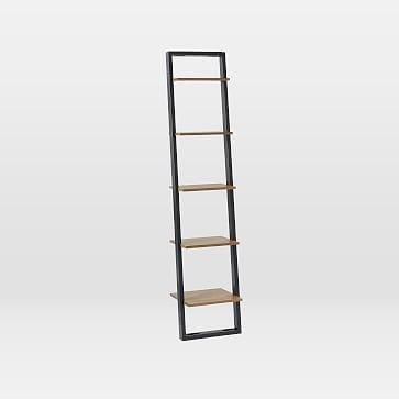 Ladder Shelf Storage Narrow Shelf Sand Stone West Elm
