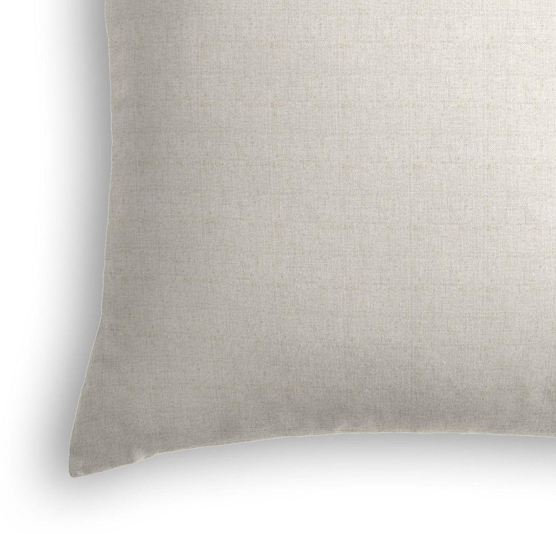 """Classic Linen Pillow, Soft Gray, 18"""" x 18"""""""