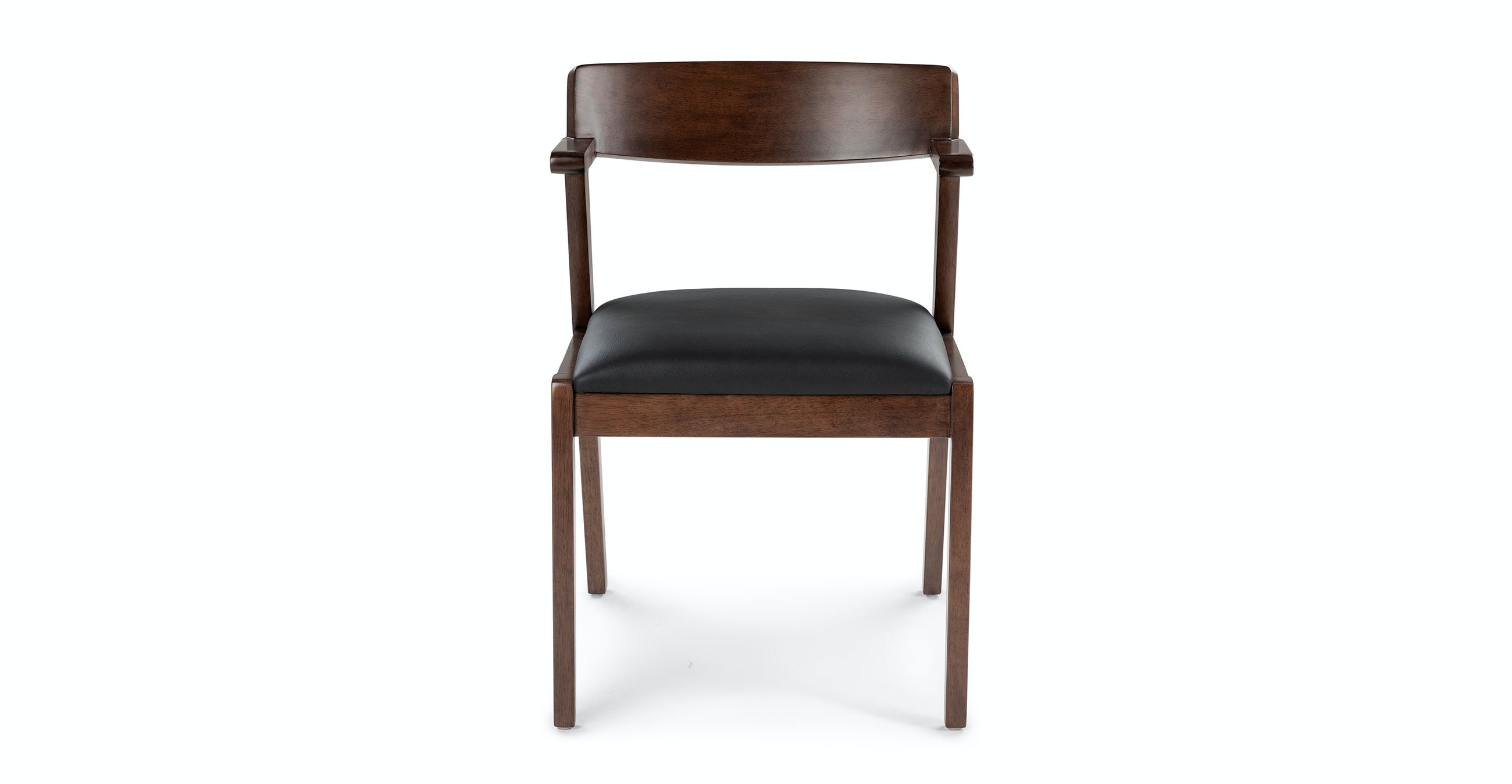 Zola Black Leather Dining Chair