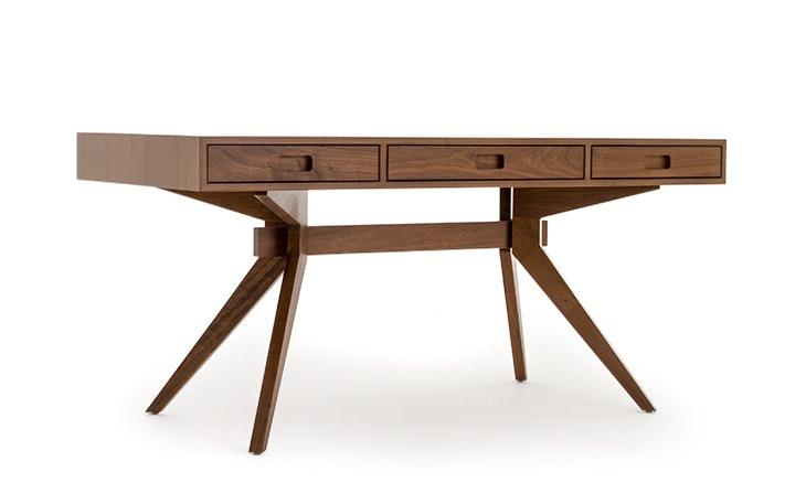 Holland Mid Century Modern Desk - Walnut
