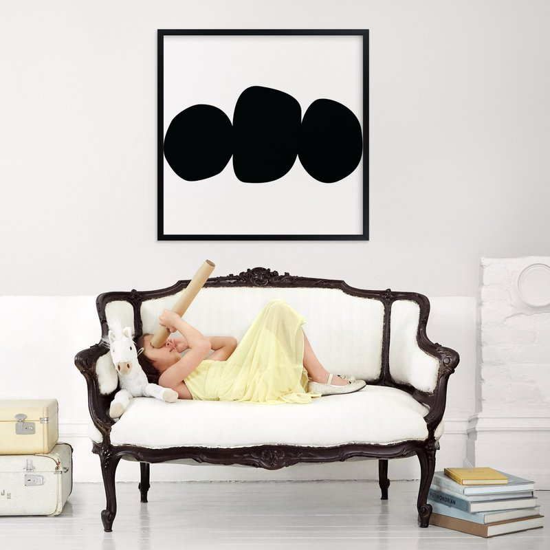 Three Again - Rich Black Wood Frame