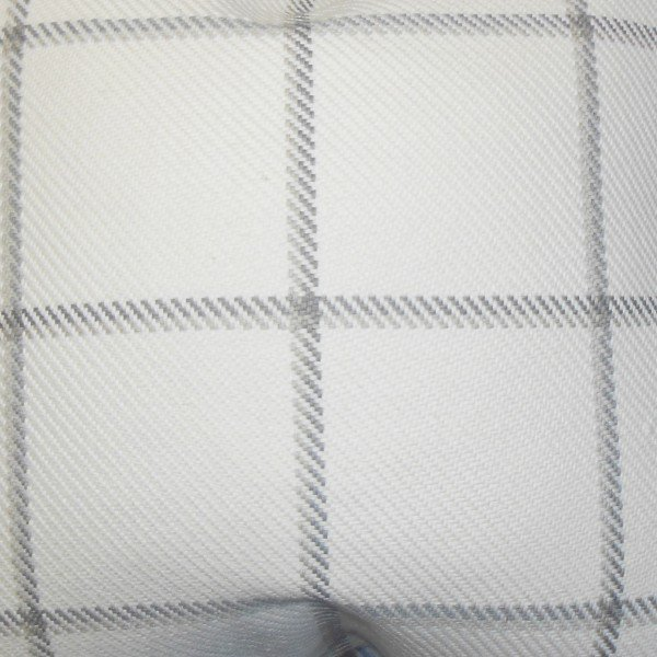 "Wilmie Plaid Pillow, 22"" x 22"", Gray & White"
