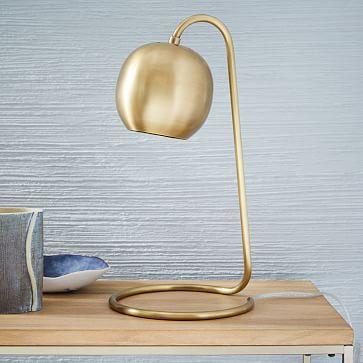 Scoop Table Lamp- Antique Brass