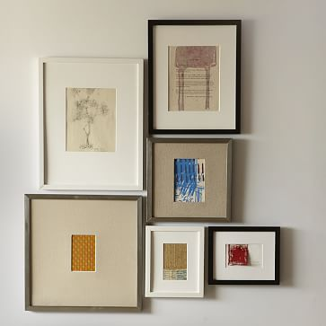 """Gallery Frames, 4""""x 6"""" (8"""" x 10"""" without mat), Black Lacquer"""