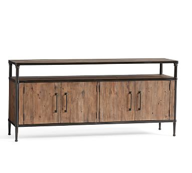 "Juno Media Console, Large, Reclaimed Pine- 68"" Wide"
