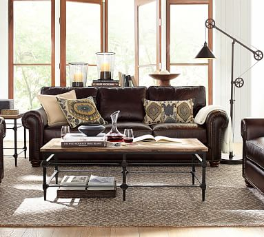 Parquet Reclaimed Wood & Metal Rectangular Coffee Table