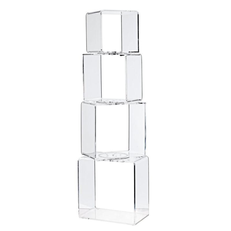 Block Tower Acrylic Bookcase