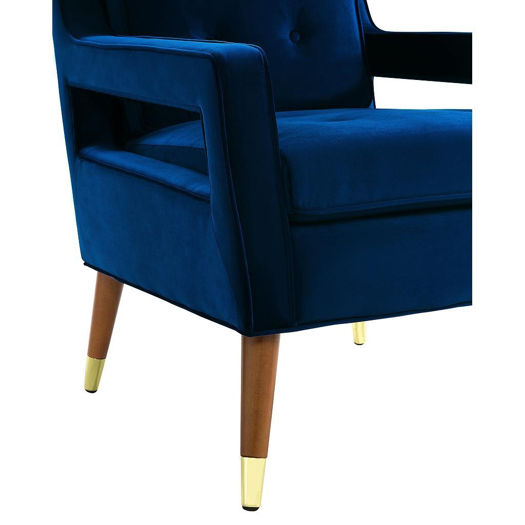 Davis Navy Velvet Chair