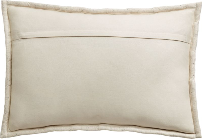 """18""""x12"""" Jersey Ivory InterKnit Pillow with Down-Alternative Insert"""