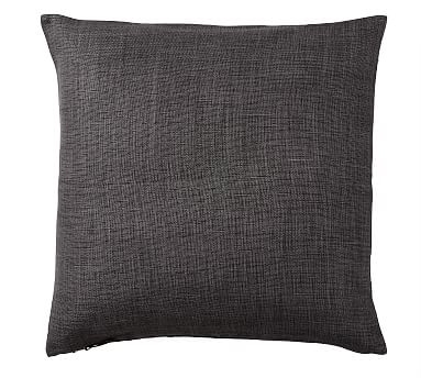 """Libeco Linen Pillow Cover, 24"""", Charcoal"""
