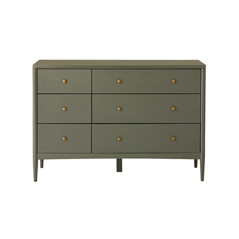 Kids Hampshire 6-Drawer Olive Green Dresser