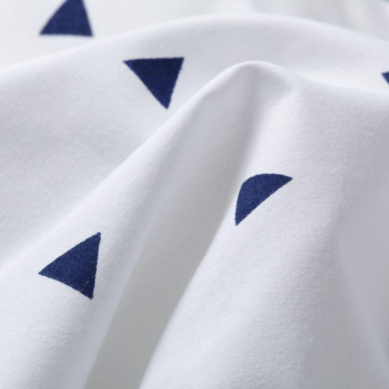 Little Prints Blue Triangle Twin Sheet Set