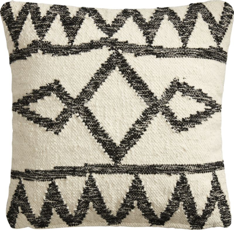 """20"""" Asterix Geometric Pillow with Feather Down Insert"""""""