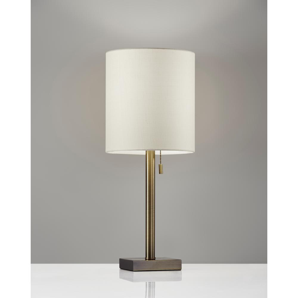 22 in. Antique Brass Table Lamp