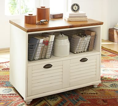 Whitney Lateral File Cabinet, Almond White