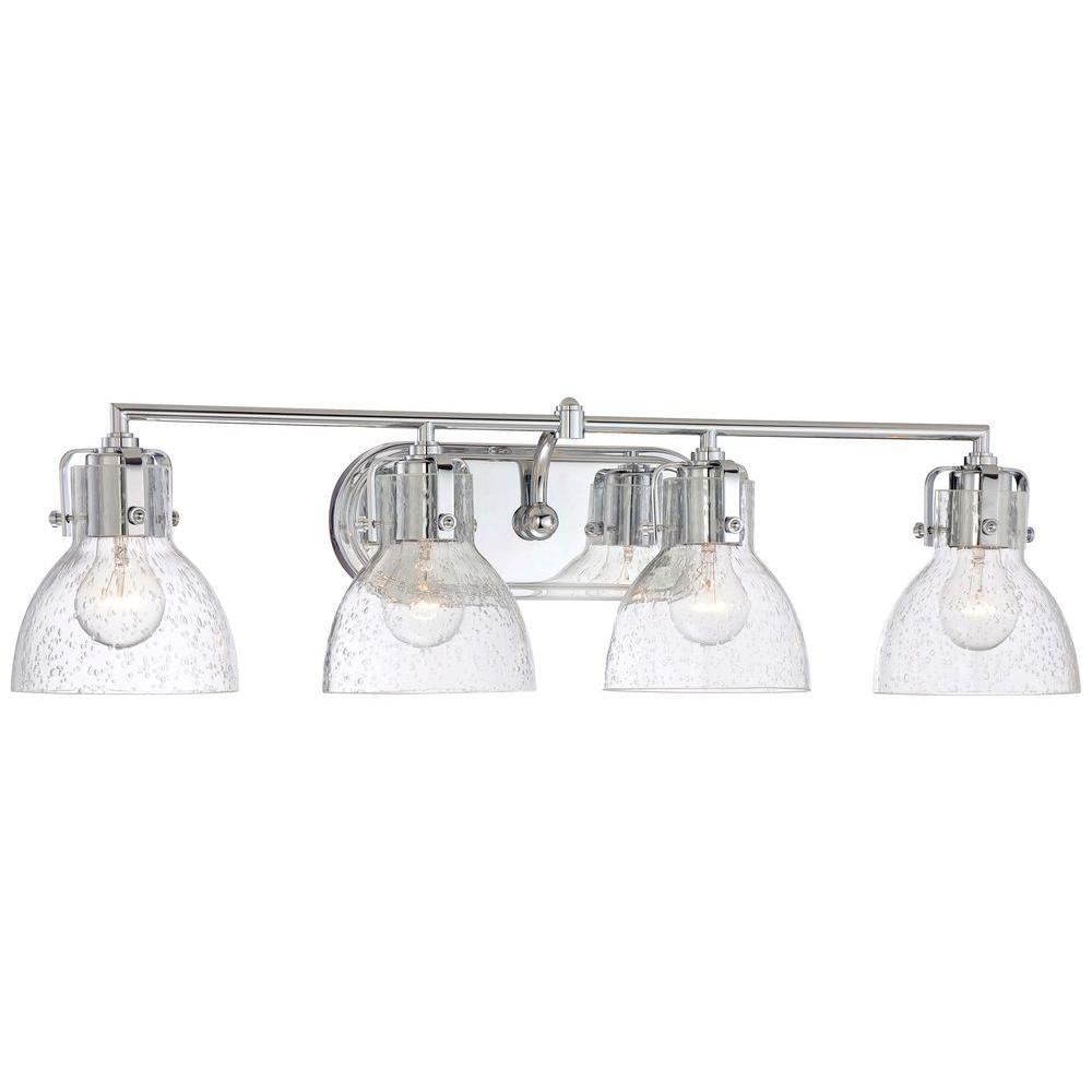 Minka Lavery 4 Light Chrome Bath Vanity Light Home Depot Havenly