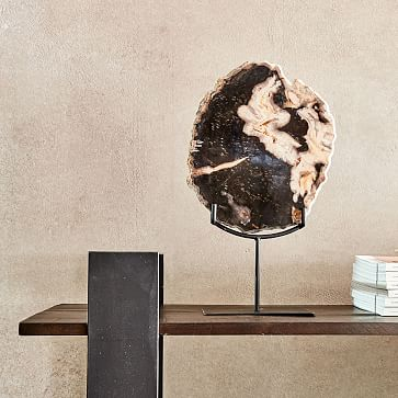 Petrified Wood Object on Stand, Large