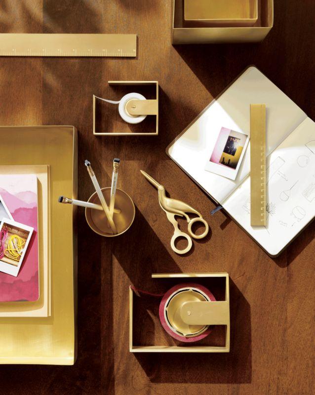 2-Piece Large Solid Brass Studio Storage Box Set