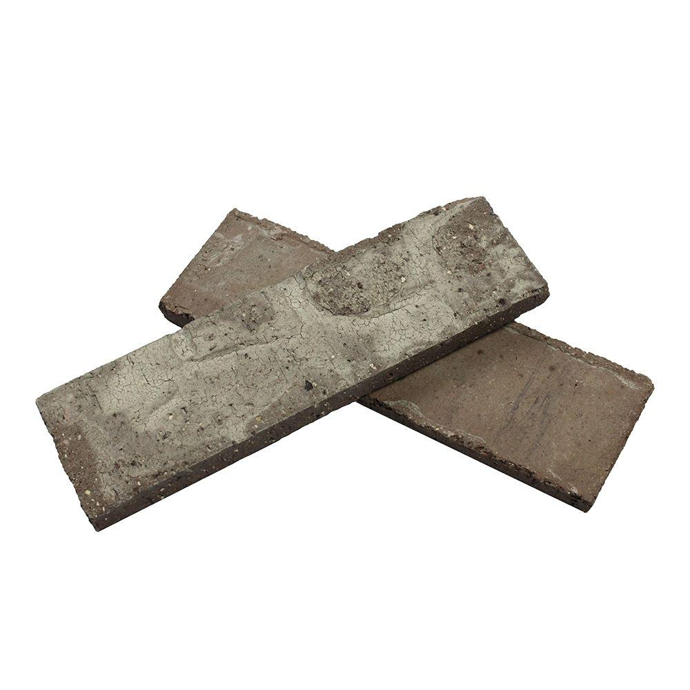 Old Mill Brick Colonial Collection Little Cottonwood 7.3 sq. ft. 2-1/4 in. x 7-5/8 in. x 1/2 in. Clay Thin Brick Flats (Box of 50)