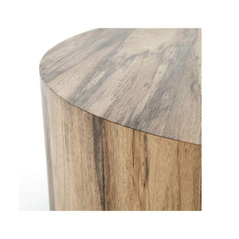 Hudson Spalted Primavera Round Wood Coffee Table