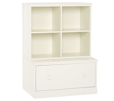 Cameron Cubby & Drawer Base Set, Simply White