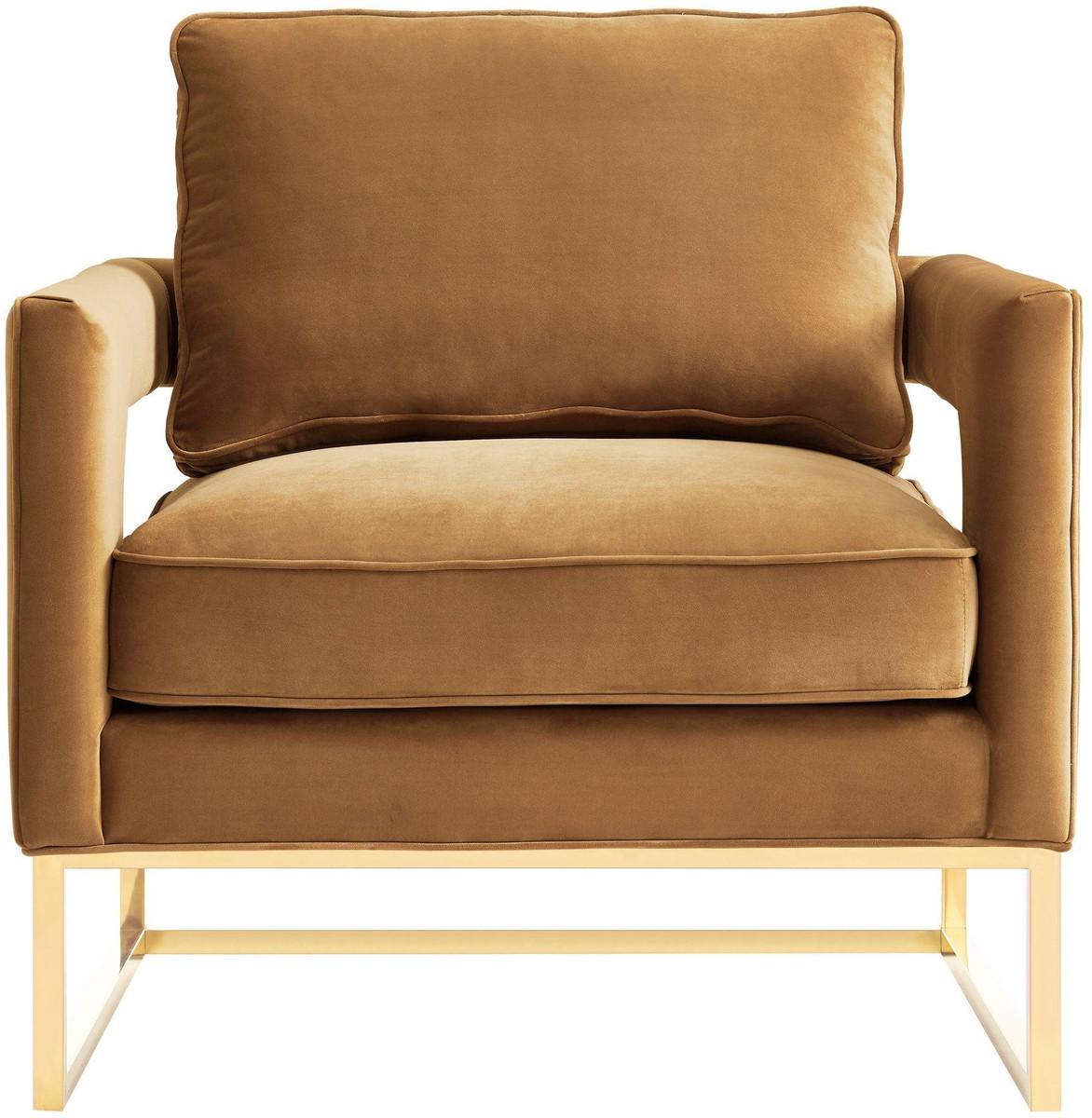 Zoie Chair, Cognac Velvet