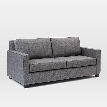 """Henry 76"""" Basic Queen Sleeper Sofa, Twill, Gravel"""