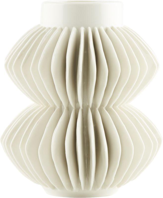 Celia White Vase - 5.75H