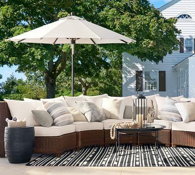 "Sunbrella(R) Dayren Stripe Indoor/Outdoor Pillow, 20"", Neutral"