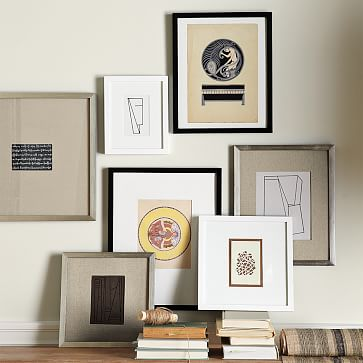 """Gallery Frame, 4""""x 6"""" (17"""" x 17"""" without mat), White Lacquer"""