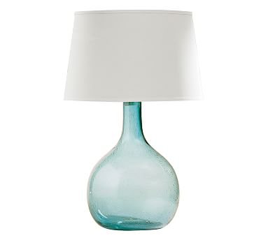 Eva Colored Glass Table Lamp - Jade