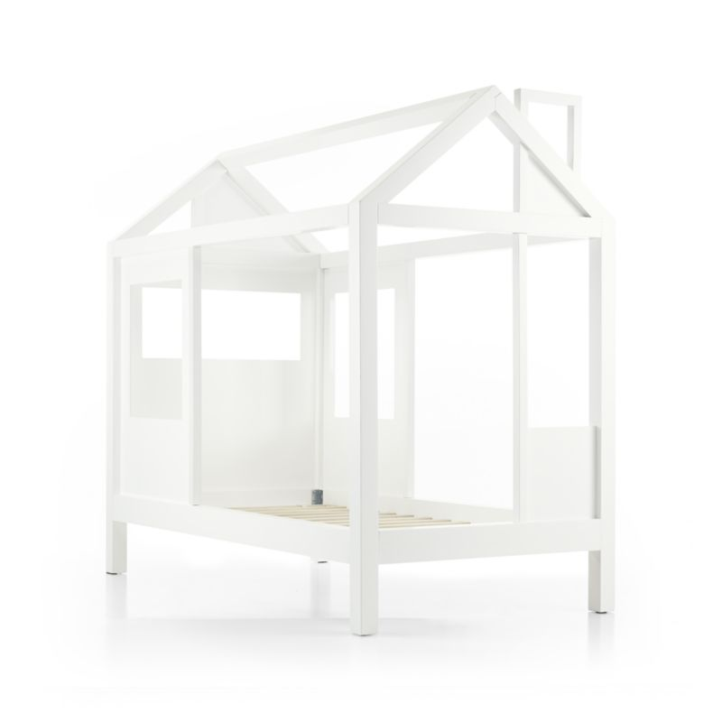 Tiny House White Twin Bed