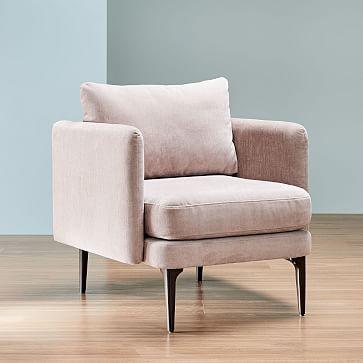 Auburn Chair, Poly, Distressed Velvet, Mauve, Dark Mineral