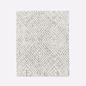 Stone Tile Rug, Alabaster, 8'x10'