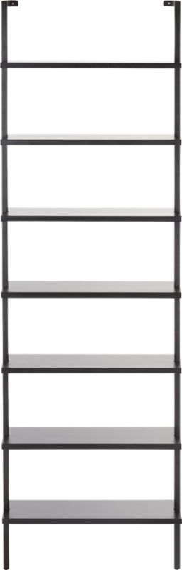 """Stairway Black 96""""  Wall Mounted Bookcase"""