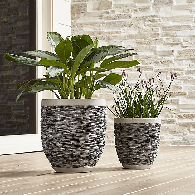Stacked Small Rock Planter - Crate and Barrel