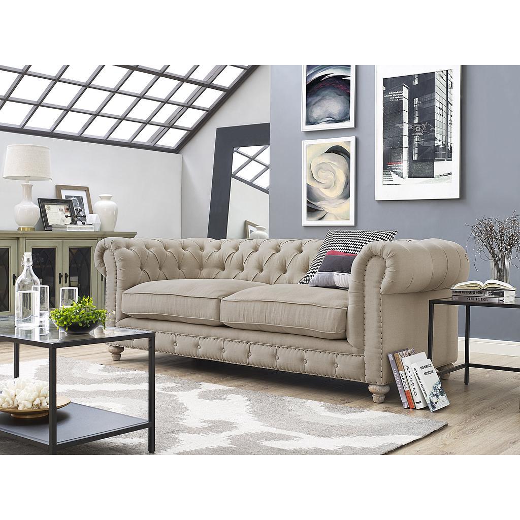Osborn Beige Linen Sofa